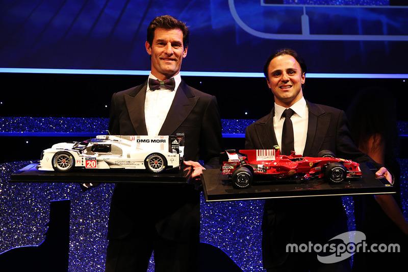 Mark Webber y Felipe Massa reciben autos a escala