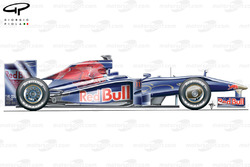 STR4 (Red Bull RB5) 2009 side view without shark fin engine cover