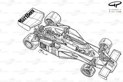 Подробная схема McLaren M23B 1976 года