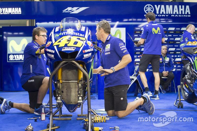 Box von Valentino Rossi, Yamaha Factory Racing