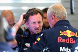 Christian Horner, Team Principal Red Bull Racing et le Dr. Helmut Marko, consultant Red Bull Motorsport