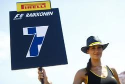Grid Girl for Kimi Raikkonen, Ferrari SF70H