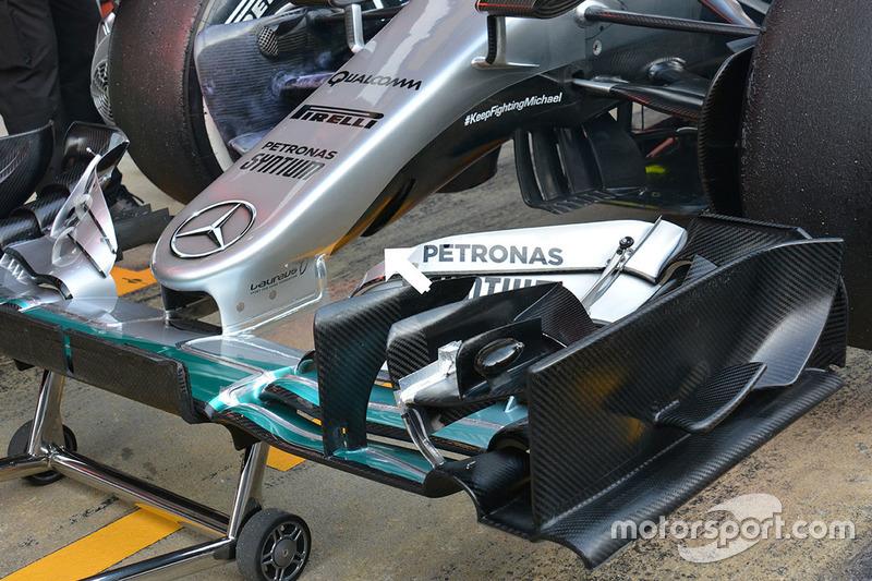 Le nouvel aileron de la Mercedes AMG F1 Team W07