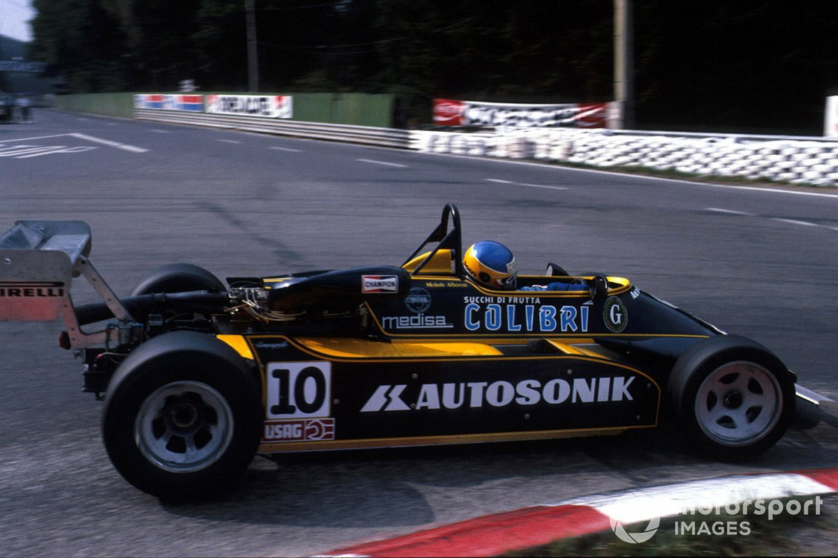 The Minardi-BMW was a long way from being the hottest F2 property in '81, but Alboreto took pole at Pau and won at Misano.