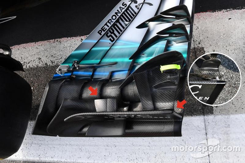 Mercedes-AMG F1 W09 detail voorvleugel