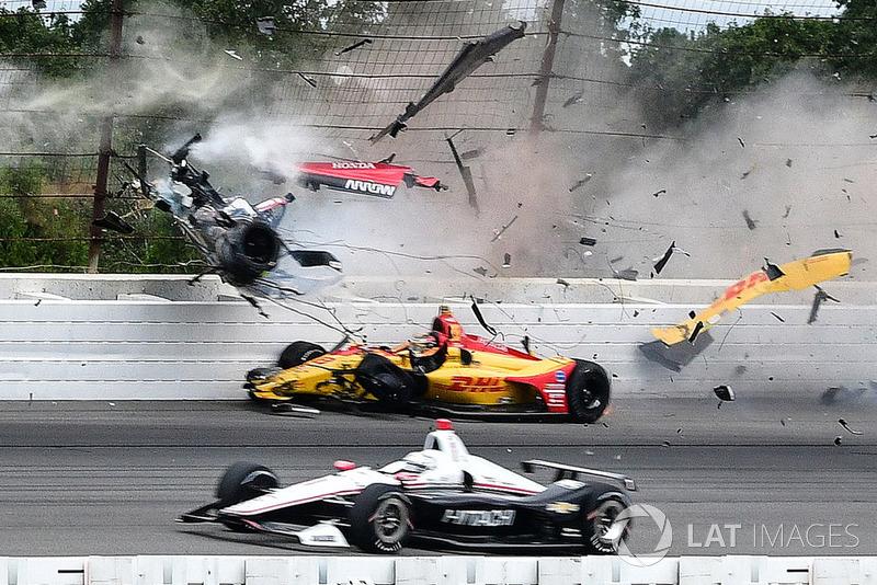 Robert Wickens crash at Pocono