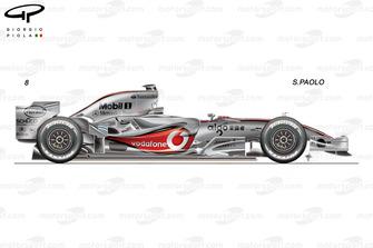McLaren MP4-22 side view, Brazilian GP