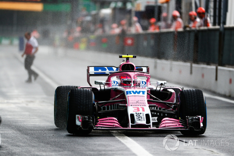 8 місце — Естебан Окон, Force India — 77