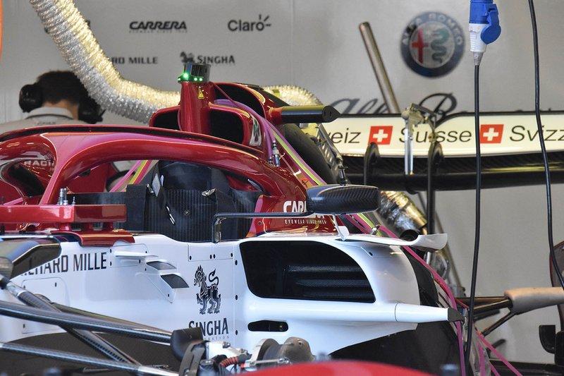 Alfa Romeo C38, detalhe lateral