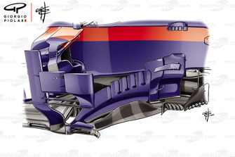 Toro Rosso STR13 barge board Brazilian GP