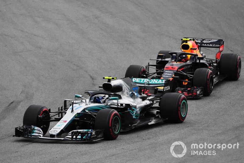 Валттері Боттас, Mercedes AMG F1 W09 EQ Power+, Макс Ферстаппен, Red Bull Racing RB14