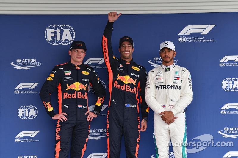 Даніель Ріккардо, Макс Ферстаппен, Red Bull Racing, Льюіс Хемілтон, Mercedes AMG F1