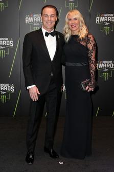Kevin Harvick, Stewart-Haas Racing, mit Ehefrau DeLana