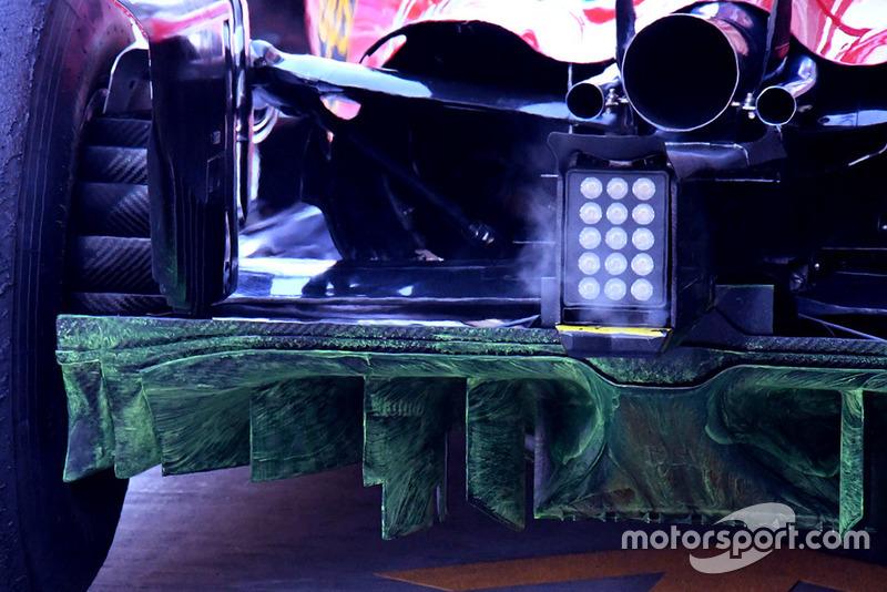 Detail bagian belakang Ferrari SF71H