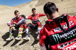 Ricky Brabec, Kevin Benavides, Paulo Gonçalves, Honda HRC