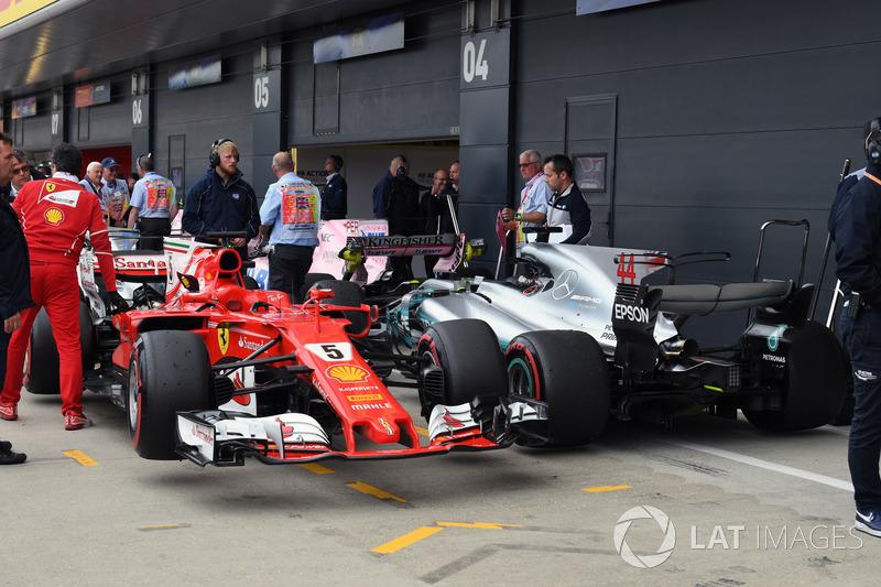 Себастьян Феттель, Ferrari SF70H, Льюіс Хемілтон, Mercedes-Benz F1 W08