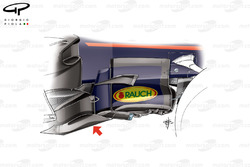 Red Bull RB13 new bargeboard, captioned, British GP