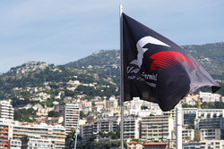 Formula 1 Flag over looking the harbour