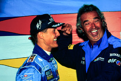 1. Michael Schumacher, Benetton, mit Flavio Briatore, Benetton, Teamchef