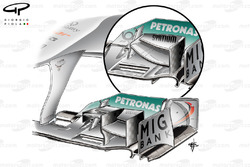 Mercedes W02 front wing, German GP