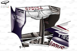 Williams FW33 curved rear wing