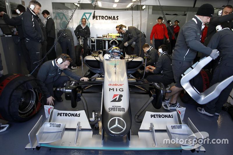 Nico Rosberg, primera prueba de F1 de Mercedes AMG - Valencia 2010