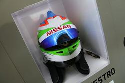 Helmet of Simona de Silvestro, Nissan Motorsports