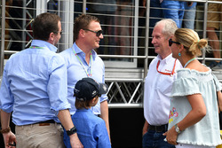 Dr Helmut Marko, Red Bull Motorsport Consultant and guests