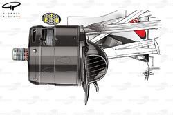 Ferrari SF70H brake duct, captioned