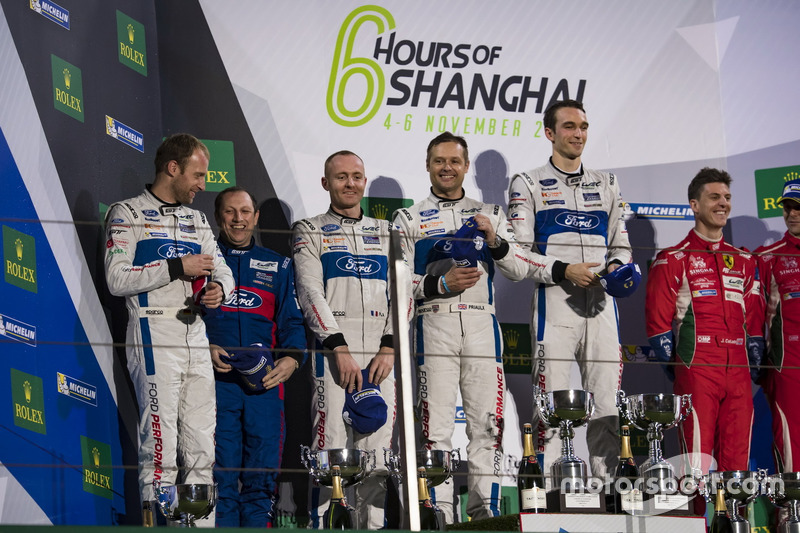 Podium LMGTE: 1. #67 Ford Chip Ganassi Racing Team UK, Ford GT: Andy Priaulx, Harry Tincknell; 2. #66 Ford Chip Ganassi Racing Team UK, Ford GT: Olivier Pla, Stefan Mücke