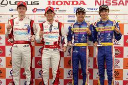 GT500-Polesitter: #15 Drago Modulo Honda Racing, Honda NSX Concept-GT: Hideki Mutoh, Oliver Turvey;