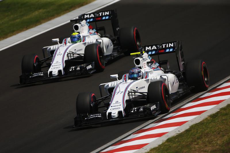 Valtteri Bottas, Williams FW38 y Felipe Massa, Williams FW38