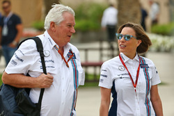 Williams-Technikchef Pat Symonds mit Claire Williams