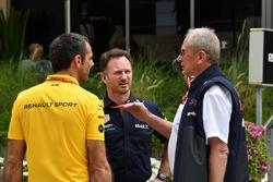 Christian Horner, Red Bull Racing Takım Patronu, Dr Helmut Marko, Red Bull Motorsporları Danışmanı, Cyril Abiteboul, Renault Sport F1 Direktörü