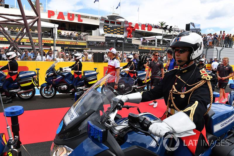 Marcus Ericsson, Sauber, nella drivers parade