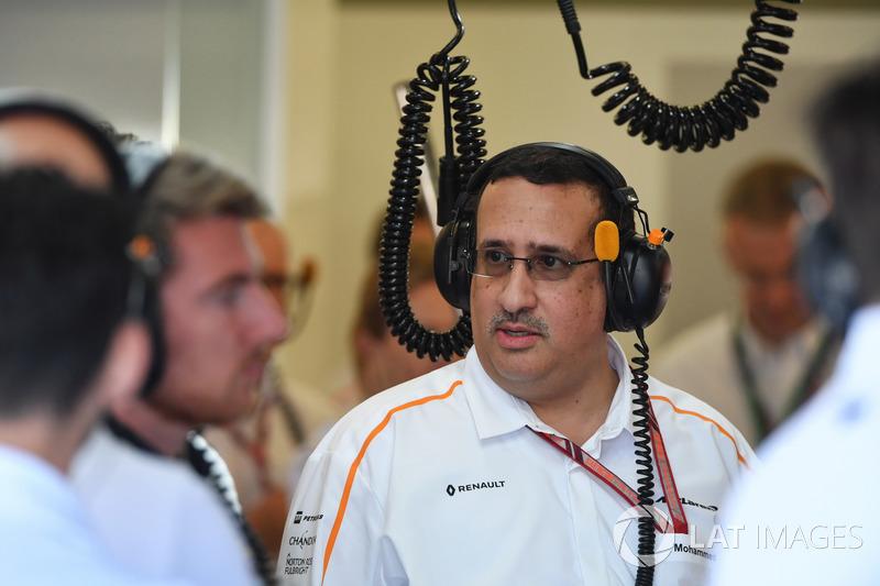 Sceicco Mohammed bin Essa Al Khalifa, CEO del consiglio per lo sviluppo economico del Bahrain e azionista McLaren