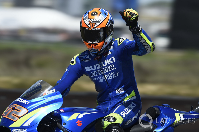 Alex Rins foi o segundo da MotoGP em Assen