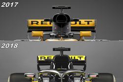 Воздухозаборники Renault F1 Team RS18 и RS17
