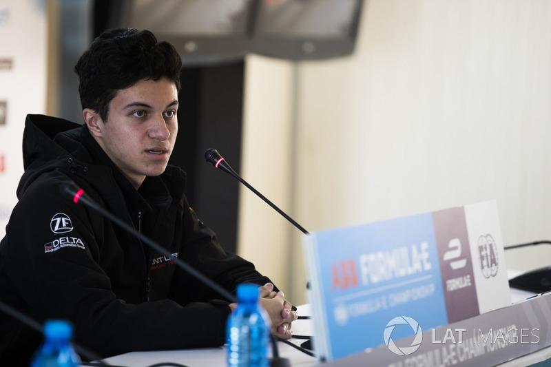 Michael Benyahia, Venturi Formula E, in the press conference