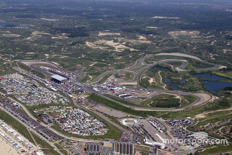Circuit Park Zandvoort vanuit de lucht