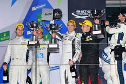 Podium: winners LMP1 private #4 ByKolles Racing CLM P1/01: Simon Trummer, Oliver Webb, Pierre Kaffer