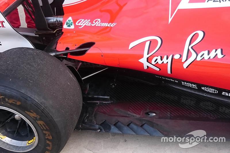 Detalle del Ferrari SF70H