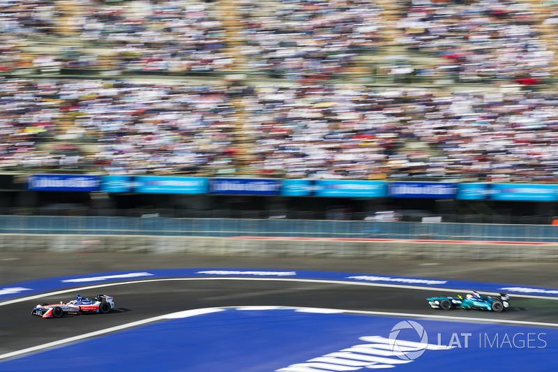 Felix Rosenqvist, Mahindra Racing. Oliver Turvey, NIO Formula E Team