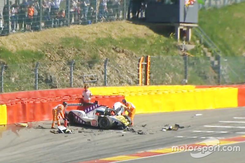 Crash: Pietro Fittipaldi, Dragonspeed BR Engineering BR1