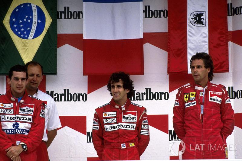 1988: 1. Alain Prost, 2. Ayrton Senna, 3. Gerhard Berger