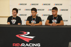 2017 NASCAR Drive for Diversity participants Fabian Welter , Ryan Vargas  and Armani Williams at Bethune Cookman University