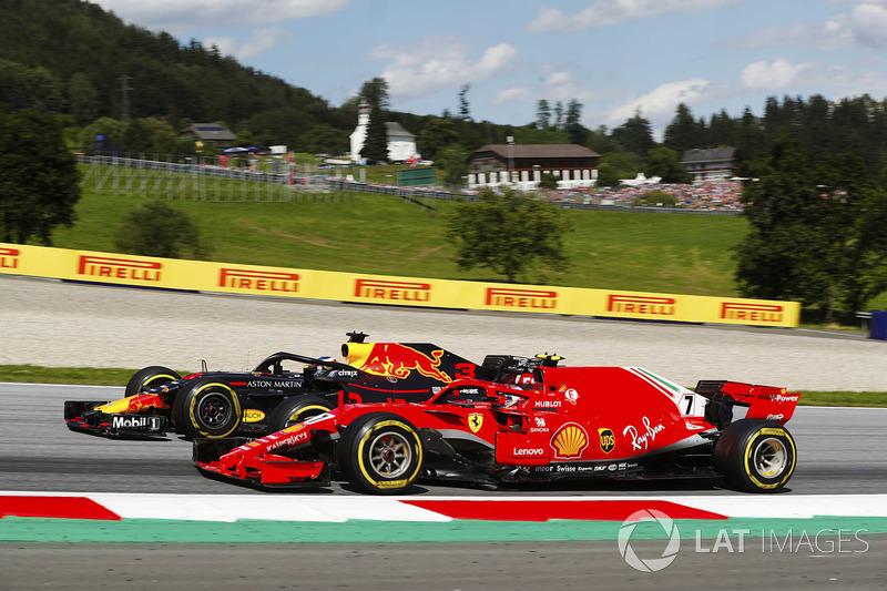 Kimi Raikkonen administrou bem os pneus e ficou em segundo no Red Bull Ring