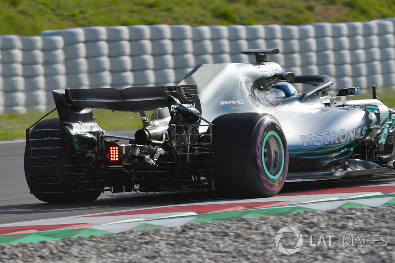 Valtteri Bottas, Mercedes-AMG F1 W09 arka kanatta aero sensörü