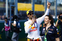 Daniel Ricciardo, Red Bull Racing, at the drivers parade