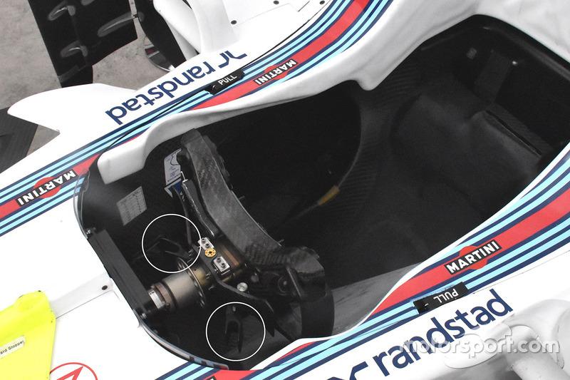 Williams FW40 stuurwiel detail